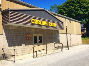 Curling club entrance