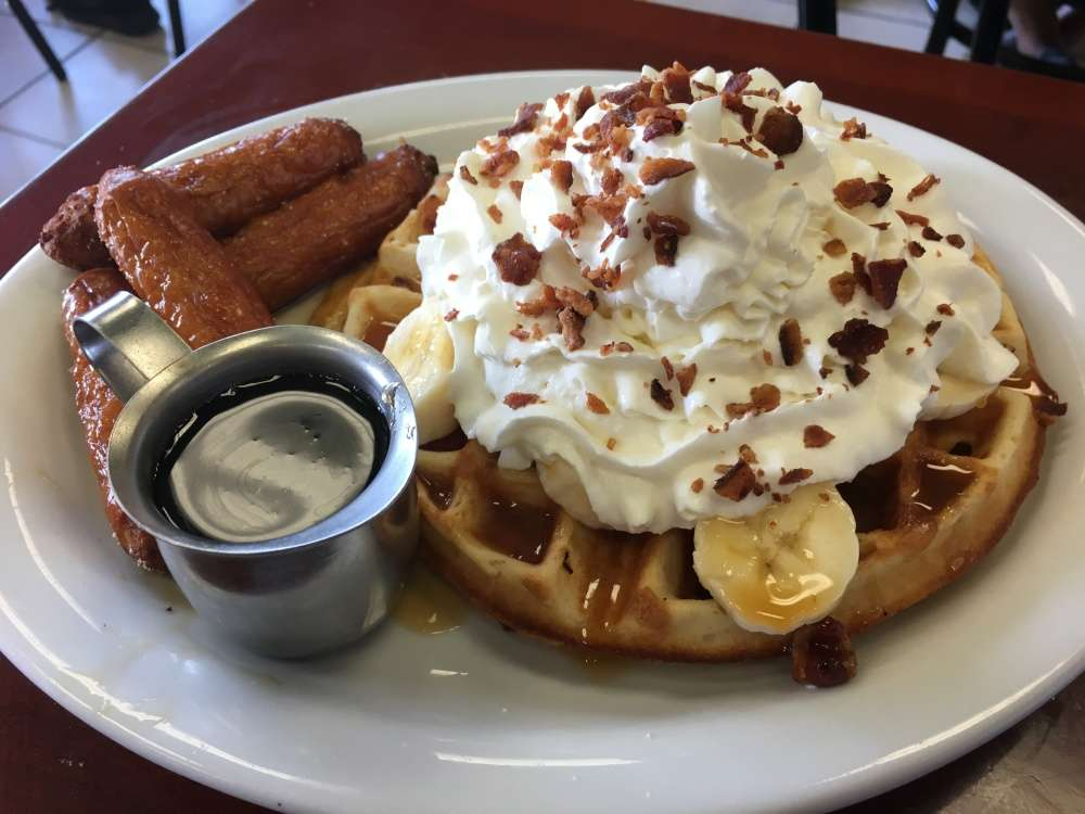 A dreamy breakfast of Waffles and Sausages!